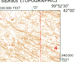 Reduced fragment of topographic map en--usgs--024k--005382--(1952)--N042-00-00_W100-00-00--N041-52-30_W099-52-30