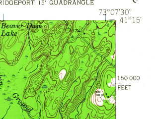 Reduced fragment of topographic map en--usgs--024k--005408--(1951)--N041-15-00_W073-15-00--N041-07-30_W073-07-30; towns and cities Bridgeport, Stratford