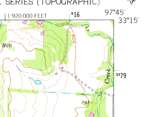 Reduced fragment of topographic map en--usgs--024k--005420--(1960)--N033-15-00_W097-52-30--N033-07-30_W097-45-00; towns and cities Bridgeport, Lake Bridgeport, Runaway Bay
