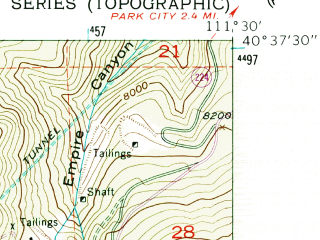 Reduced fragment of topographic map en--usgs--024k--005466--(1955)--N040-37-30_W111-37-30--N040-30-00_W111-30-00; towns and cities Alta