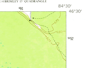 Reduced fragment of topographic map en--usgs--024k--005476--(1951)--N046-30-00_W084-37-30--N046-22-30_W084-30-00
