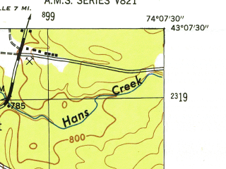 Reduced fragment of topographic map en--usgs--024k--005536--(1946)--N043-07-30_W074-15-00--N043-00-00_W074-07-30; towns and cities Broadalbin