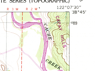 Reduced fragment of topographic map en--usgs--024k--005637--(1959)--N038-45-00_W122-15-00--N038-37-30_W122-07-30