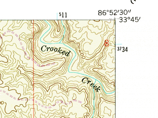 Reduced fragment of topographic map en--usgs--024k--005646--(1959)--N033-45-00_W087-00-00--N033-37-30_W086-52-30; towns and cities Graysville, Brookside, Cardiff