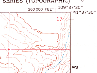 Reduced fragment of topographic map en--usgs--024k--005833--(1961)--N041-37-30_W109-45-00--N041-30-00_W109-37-30