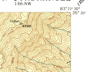 Reduced fragment of topographic map en--usgs--024k--005855--(1940)--N035-30-00_W083-30-00--N035-22-30_W083-22-30; towns and cities Bryson City