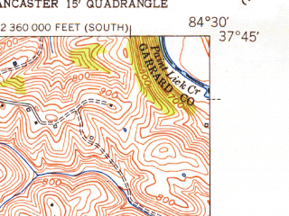 Reduced fragment of topographic map en--usgs--024k--005900--(1952)--N037-45-00_W084-37-30--N037-37-30_W084-30-00