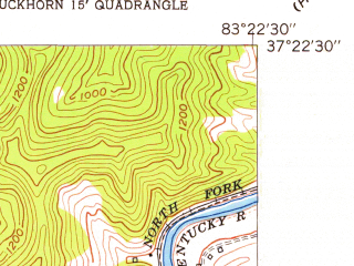 Reduced fragment of topographic map en--usgs--024k--005922--(1953)--N037-22-30_W083-30-00--N037-15-00_W083-22-30