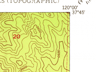 Reduced fragment of topographic map en--usgs--024k--005937--(1948)--N037-45-00_W120-07-30--N037-37-30_W120-00-00