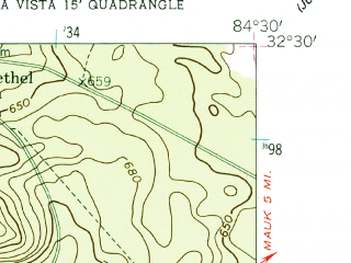 Reduced fragment of topographic map en--usgs--024k--006004--(1955)--N032-30-00_W084-37-30--N032-22-30_W084-30-00