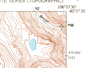 Reduced fragment of topographic map en--usgs--024k--006059--(1955)--N040-37-30_W106-45-00--N040-30-00_W106-37-30