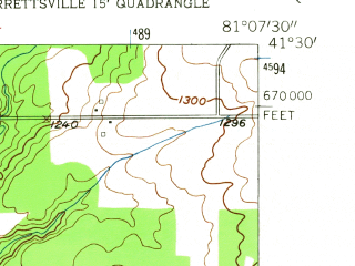 Reduced fragment of topographic map en--usgs--024k--006408--(1953)--N041-30-00_W081-15-00--N041-22-30_W081-07-30; towns and cities Burton