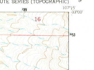 Reduced fragment of topographic map en--usgs--024k--006570--(1961)--N033-00-00_W107-22-30--N032-52-30_W107-15-00 in area of Caballo Reservoir