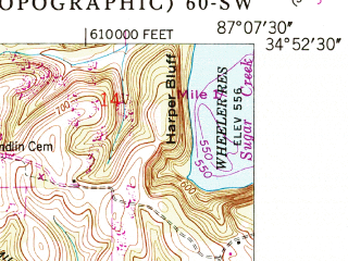 Reduced fragment of topographic map en--usgs--024k--006670--(1950)--N034-52-30_W087-15-00--N034-45-00_W087-07-30