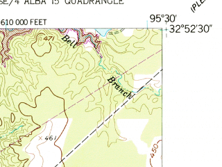 Reduced fragment of topographic map en--usgs--024k--006797--(1959)--N032-52-30_W095-37-30--N032-45-00_W095-30-00