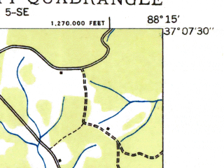 Reduced fragment of topographic map en--usgs--024k--006802--(1936)--N037-07-30_W088-22-30--N037-00-00_W088-15-00; towns and cities Calvert City