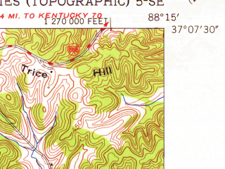 Reduced fragment of topographic map en--usgs--024k--006802--(1955)--N037-07-30_W088-22-30--N037-00-00_W088-15-00; towns and cities Calvert City