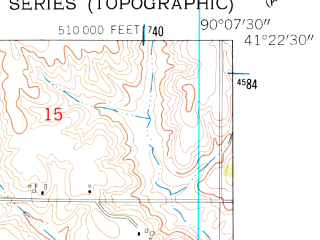 Reduced fragment of topographic map en--usgs--024k--006829--(1953)--N041-22-30_W090-15-00--N041-15-00_W090-07-30; towns and cities Cambridge