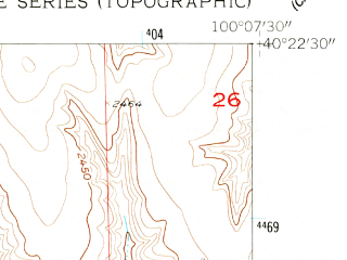 Reduced fragment of topographic map en--usgs--024k--006837--(1956)--N040-22-30_W100-15-00--N040-15-00_W100-07-30; towns and cities Cambridge