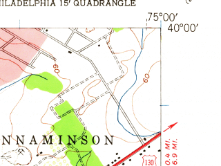 Reduced fragment of topographic map en--usgs--024k--006850--(1949)--N040-00-00_W075-07-30--N039-52-30_W075-00-00; towns and cities Camden, Pennsauken, Haddonfield, Collingswood, Gloucester City
