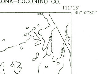 Reduced fragment of topographic map en--usgs--024k--006894--(1955)--N035-52-30_W111-22-30--N035-45-00_W111-15-00