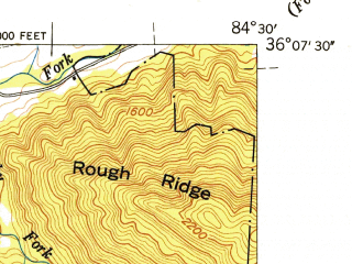 Reduced fragment of topographic map en--usgs--024k--006906--(1946)--N036-07-30_W084-37-30--N036-00-00_W084-30-00; towns and cities Wartburg