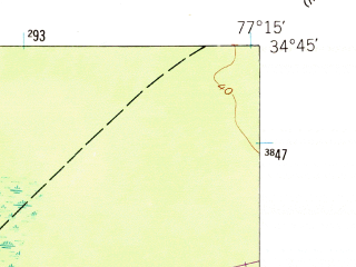 Reduced fragment of topographic map en--usgs--024k--006932--(1952)--N034-45-00_W077-22-30--N034-37-30_W077-15-00; towns and cities Camp Lejeune Central