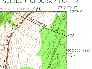 Reduced fragment of topographic map en--usgs--024k--006988--(1959)--N042-30-00_W073-30-00--N042-22-30_W073-22-30