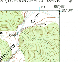Reduced fragment of topographic map en--usgs--024k--007039--(1956)--N035-30-00_W085-52-30--N035-22-30_W085-45-00
