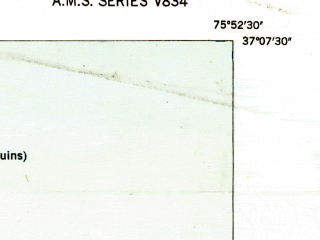 Reduced fragment of topographic map en--usgs--024k--007160--(1948)--N037-22-30_W076-07-30--N037-15-00_W076-00-00; towns and cities Cape Charles