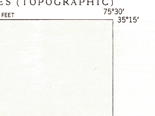 Reduced fragment of topographic map en--usgs--024k--007168--(1950)--N035-15-00_W075-37-30--N035-07-30_W075-30-00