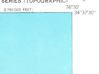 Reduced fragment of topographic map en--usgs--024k--007174--(1951)--N034-37-30_W076-37-30--N034-30-00_W076-30-00