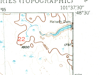 Reduced fragment of topographic map en--usgs--024k--007362--(1949)--N048-30-00_W101-45-00--N048-22-30_W101-37-30; towns and cities Carpio