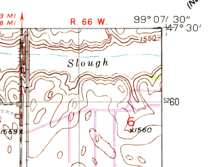 Reduced fragment of topographic map en--usgs--024k--007384--(1950)--N047-30-00_W099-15-00--N047-22-30_W099-07-30