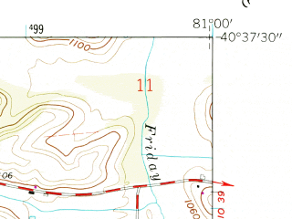 Reduced fragment of topographic map en--usgs--024k--007406--(1959)--N040-37-30_W081-07-30--N040-30-00_W081-00-00; towns and cities Carrollton