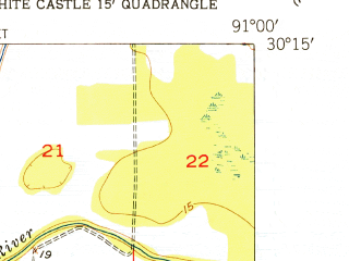 Reduced fragment of topographic map en--usgs--024k--007454--(1953)--N033-00-00_W093-37-30--N032-52-30_W093-30-00
