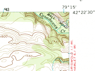 Reduced fragment of topographic map en--usgs--024k--007542--(1954)--N042-22-30_W079-22-30--N042-15-00_W079-15-00; towns and cities Cassadaga, Sinclairville