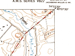 Reduced fragment of topographic map en--usgs--024k--007554--(1948)--N040-07-30_W074-30-00--N040-00-00_W074-22-30