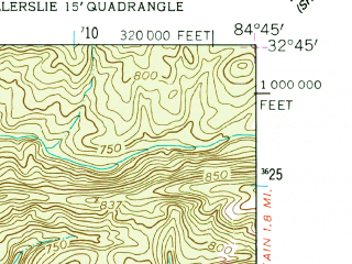 Reduced fragment of topographic map en--usgs--024k--007641--(1955)--N032-45-00_W084-52-30--N032-37-30_W084-45-00