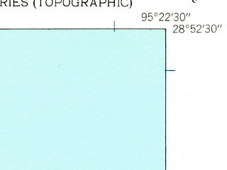 Reduced fragment of topographic map en--usgs--024k--007820--(1943)--N028-52-30_W095-30-00--N028-45-00_W095-22-30