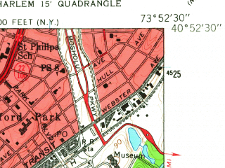 Reduced fragment of topographic map en--usgs--024k--007974--(1956)--N040-52-30_W074-00-00--N040-45-00_W073-52-30; towns and cities Cliffside Park, Fort Lee, Palisades Park, Edgewater, Leonia