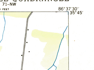 Reduced fragment of topographic map en--usgs--024k--008146--(1936)--N035-45-00_W086-45-00--N035-37-30_W086-37-30; towns and cities Eagleville, Chapel Hill