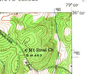 Reduced fragment of topographic map en--usgs--024k--008148--(1946)--N036-00-00_W079-07-30--N035-52-30_W079-00-00; towns and cities Chapel Hill, Carrboro