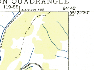Reduced fragment of topographic map en--usgs--024k--008201--(1935)--N035-22-30_W084-52-30--N035-15-00_W084-45-00; towns and cities Charleston