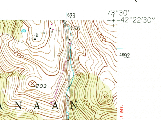 Reduced fragment of topographic map en--usgs--024k--008275--(1953)--N042-22-30_W073-37-30--N042-15-00_W073-30-00; towns and cities Chatham