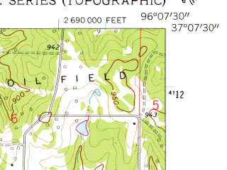 Reduced fragment of topographic map en--usgs--024k--008291--(1962)--N037-07-30_W096-15-00--N037-00-00_W096-07-30; towns and cities Chautauqua