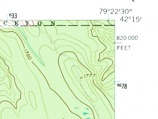 Reduced fragment of topographic map en--usgs--024k--008292--(1954)--N042-15-00_W079-30-00--N042-07-30_W079-22-30; towns and cities Bemus Point