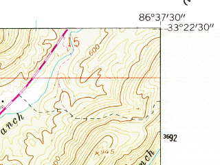 Reduced fragment of topographic map en--usgs--024k--008310--(1959)--N033-22-30_W086-45-00--N033-15-00_W086-37-30; towns and cities Chelsea