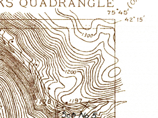 Reduced fragment of topographic map en--usgs--024k--008322--(1935)--N042-15-00_W075-52-30--N042-07-30_W075-45-00