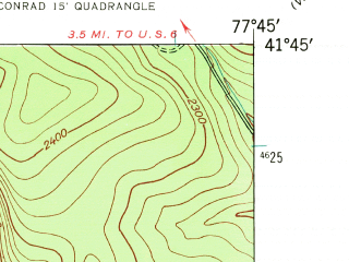 Reduced fragment of topographic map en--usgs--024k--008376--(1947)--N041-45-00_W077-52-30--N041-37-30_W077-45-00